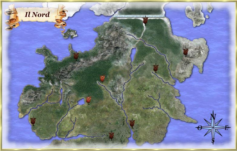 Mappa del Nord